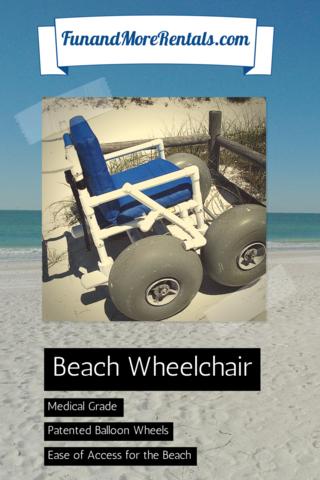 Fun and More Rentals Beach Wheel Chair